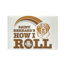 saint bernard's how I roll Rectangle Magnet (100 p