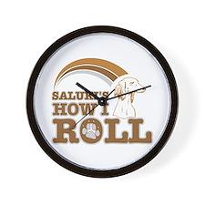saluki's how I roll Wall Clock