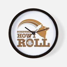 schipperke's how I roll Wall Clock