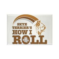 skye terrier's how I roll Rectangle Magnet (100 pa