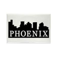 Phoenix Skyline Rectangle Magnet