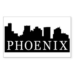 Phoenix Skyline Rectangle Sticker 50 pk)