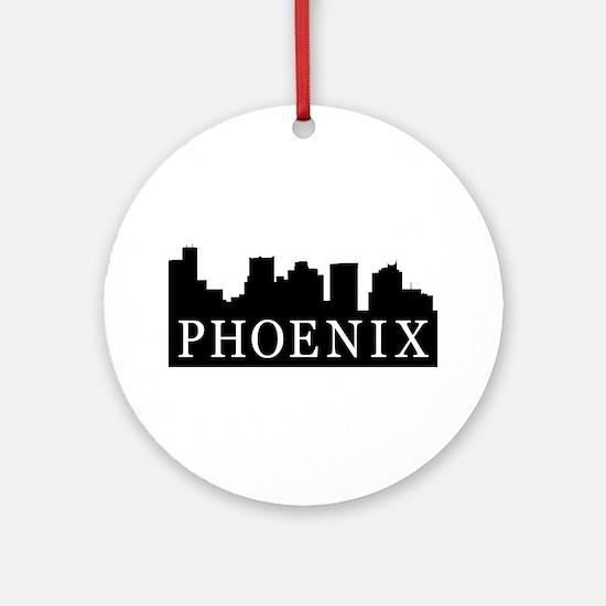 Phoenix Skyline Ornament (Round)