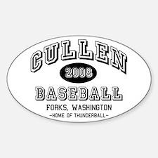 Cullen Baseball 2008 Oval Decal