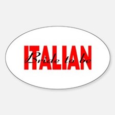 Italian Bride To Be Oval Decal