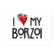Borzoi Postcards (Package of 8)