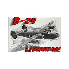 "B-24 ""Comin' through!"" Rectangle Magnet"