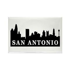 San Antonio Skyline Rectangle Magnet