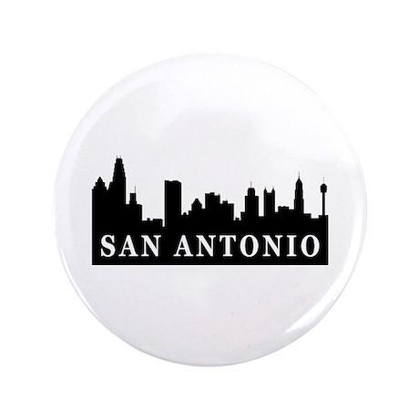 "San Antonio Skyline 3.5"" Button"