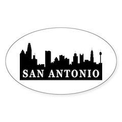 San Antonio Skyline Oval Decal