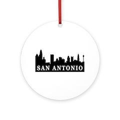 San Antonio Skyline Ornament (Round)
