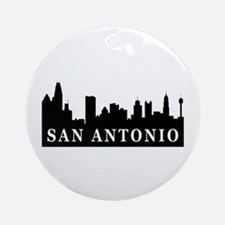 San Antonio Skyline Ornament (Round)