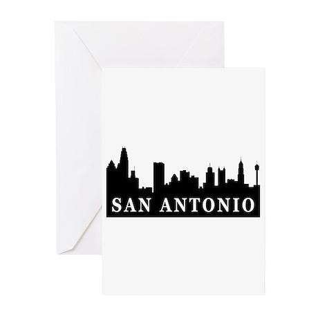 San Antonio Skyline Greeting Cards (Pk of 10)