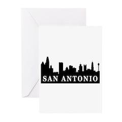 San Antonio Skyline Greeting Cards (Pk of 20)