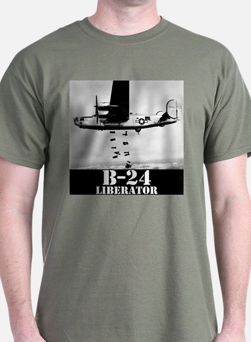 "B-24 ""Bombs away!"" T-Shirt"