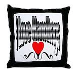 I Love Handbags Throw Pillow