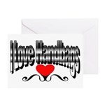 I Love Handbags Greeting Card