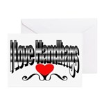 I Love Handbags Greeting Cards (Pk of 10)