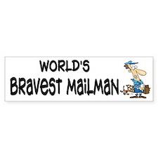Humorous Mailman Bumper Bumper Sticker