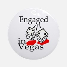 Engaged In Vegas Ornament (Round)