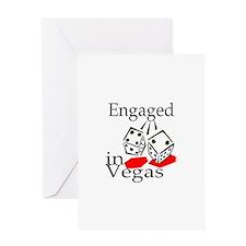 Engaged In Vegas Greeting Card