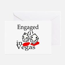 Engaged In Vegas Greeting Card