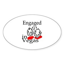 Engaged In Vegas Oval Decal