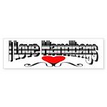 I Love Handbags Bumper Sticker (10 pk)