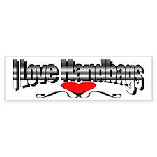 I Love Handbags Bumper Bumper Sticker
