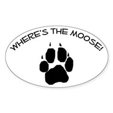 Where's the Moose! Oval Decal