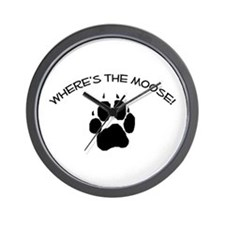 Where's the Moose! Wall Clock
