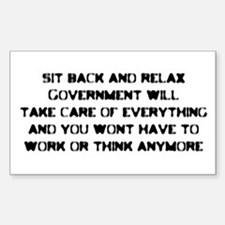 Sit back and Relax Rectangle Decal