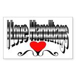 I Love Handbags Rectangle Sticker 50 pk)