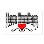 I Love Handbags Rectangle Sticker