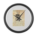 Deadwood Dick Large Wall Clock