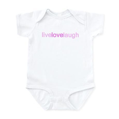 Pink Live Love Laugh Infant Bodysuit