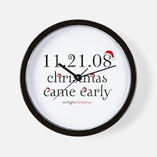 twilight christmas Wall Clock