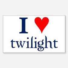 I love Twilight Rectangle Decal