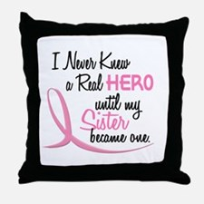 Never Knew A Hero 3 Sister BC Throw Pillow