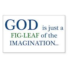 GOD is just a fig leaf Rectangle Sticker 10 pk)
