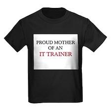 Proud Mother Of An IT TRAINER Kids Dark T-Shirt