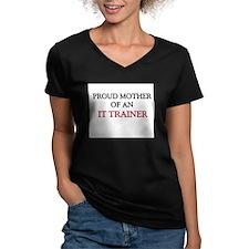 Proud Mother Of An IT TRAINER Women's V-Neck Dark