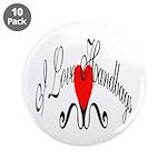 "I Love Handbags 3.5"" Button (10 pack)"