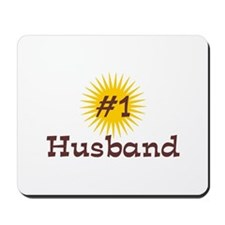 #1 Husband Mousepad