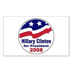 Hillary Clinton for President Sticker (Rectangular