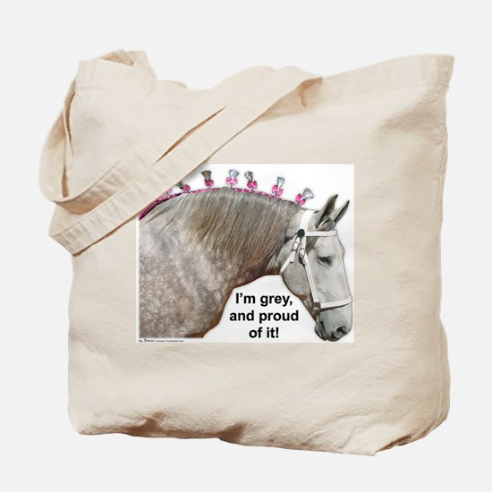 Proud to be Grey Percheron Tote Bag