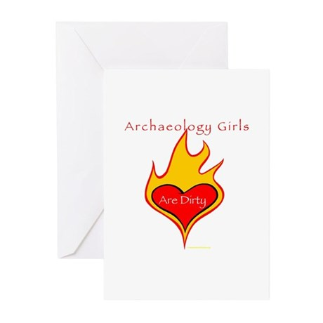 Archaeology Girls Are Dirty! Greeting Cards (Pack