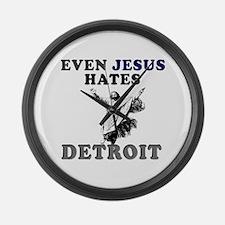 Unique Detroit Large Wall Clock