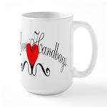I Love Handbags Large Mug