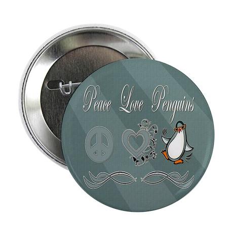 """Peace Love Penguins 2.25"""" Button (100 pack)"""